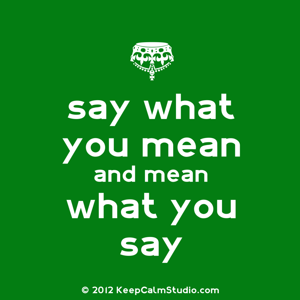 say what you mean Fotini says that word choice can even impact credibility, and might make your boss think you aren't as confident as you might actually be the good news is that it is possible to change, you just need to learn to be aware specific types of words can cast doubt and take away from your message.
